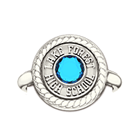 Ring Top Signet with Stones (L26)